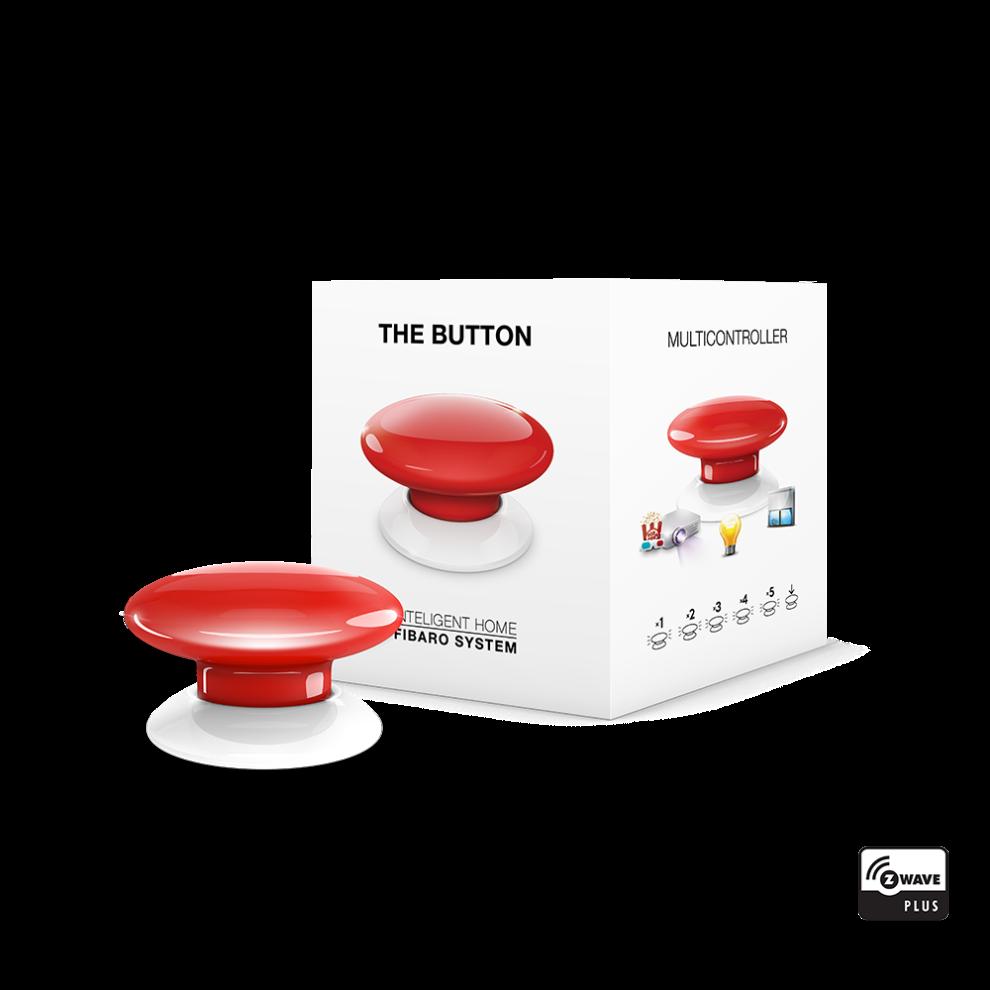 Кнопка управления Z-Wave FIBARO The Button, Цвет: Красный