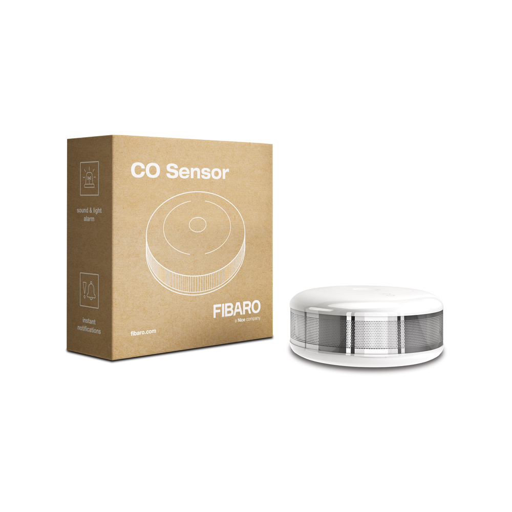 Датчик утечки угарного газа (СО) Z-Wave Plus FIBARO CO Sensor — FIBEFGCD-001