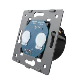Механизм сенсорного проходного выключателя Livolo 2-канальный, Classic, Количество каналов: 2, Питание: 220В, Встроенный радио модуль: Нет, Тип выключателя Livolo: Проходной