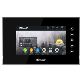 IP Видеодомофон - BAS-IP AQ-07 White/Gold/Black Черный