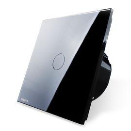 Сенсорный проходной выключатель Livolo 1-канальный, Classic, Количество каналов: 1, Питание: 220В, Встроенный радио модуль: Нет, Тип выключателя Livolo: Проходной, Цвет: Черный