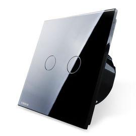 Сенсорный проходной выключатель Livolo 2-канальный, Classic, Количество каналов: 2, Питание: 220В, Встроенный радио модуль: Нет, Тип выключателя Livolo: Проходной, Цвет: Черный