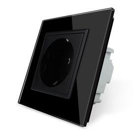 Розетка электрическая одинарная Livolo, Цвет: Черный