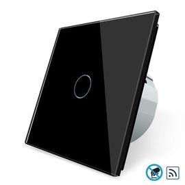 Сенсорный бесконтактный выключатель Livolo 1-канальный, Radio, Количество каналов: 1, Питание: 220В, Встроенный радио модуль: Да, Тип выключателя Livolo: Классический, Цвет: Черный