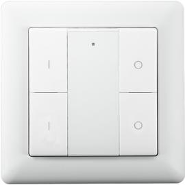 Беспроводной выключатель с 4 кнопками Heatit Z-Push Button 4, Количество каналов: 4, Питание: Батарейки, Цвет: Белый