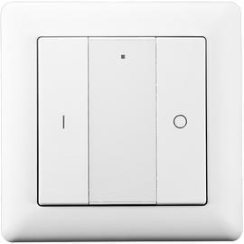 Беспроводной выключатель с 2 кнопками Heatit Z-Push Button 2, Количество каналов: 2, Питание: Батарейки, Цвет: Белый