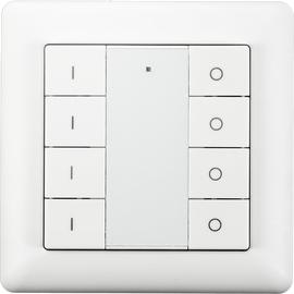 Беспроводной выключатель с 8 кнопками Heatit Z-Push Button 8, Количество каналов: 8, Питание: Батарейки, Цвет: Белый