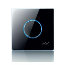 Сенсорный диммер Vitrum 1-канальный, Z-Wave, британский стандарт, Количество каналов: 1, Стандарт выключателя: Британский, Тип механизма выключателя: Диммер