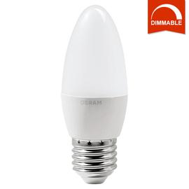 Светодиодная LED лампа OSRAM SUPERSTAR CLB40 5.4W 470lm E27 теплый белый, диммируемая, матовая