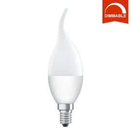 Светодиодная LED лампа OSRAM SUPERSTAR CL BA40 5.4W 470lm E14 теплый белый, диммируемая, матовая