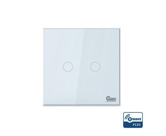 Сенсорный выключатель двухканальный Z-Wave NEO Coolcam Light Switch — NAS-SC01Z