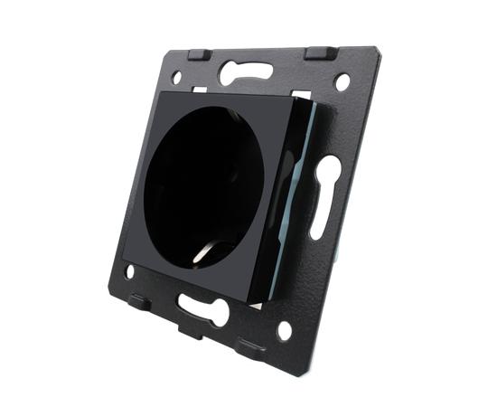 Механизм розетки электрической Livolo, черный, Цвет: Черный