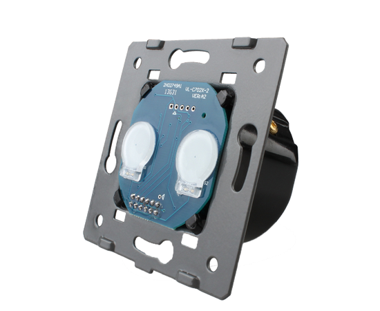 Механизм сенсорного проходного выключателя Livolo 2-канальный, Radio, Количество каналов: 2, Питание: 220В, Встроенный радио модуль: Да, Тип выключателя Livolo: Проходной