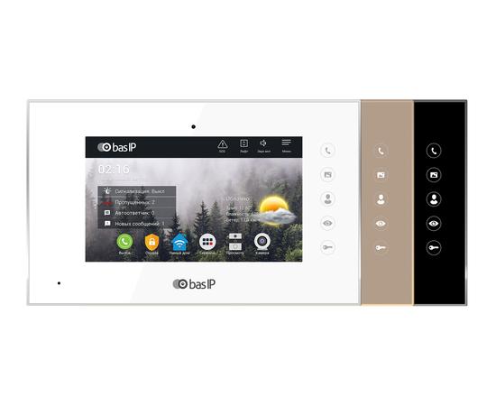 IP Видеодомофон - BAS-IP AQ-07 White/Gold/Black