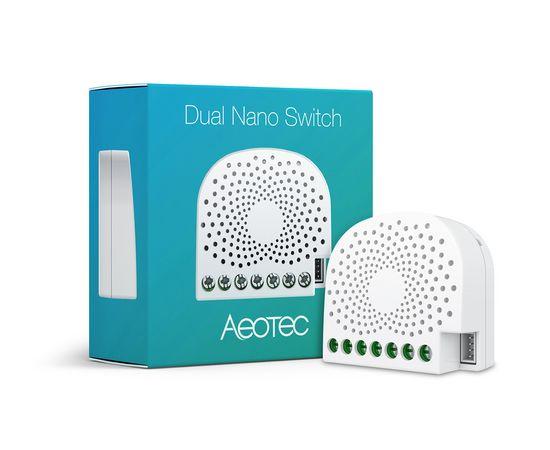 Двойное вставное реле со счетчиком электроэнергии Aeotec Dual Nano Switch with Power Metering ― AEOEZW132