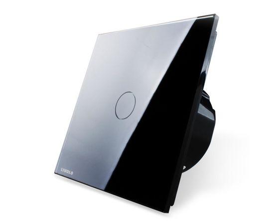 Сенсорный проходной выключатель Livolo 1-канальный, Radio, Количество каналов: 1, Питание: 220В, Встроенный радио модуль: Да, Тип выключателя Livolo: Проходной, Цвет: Черный