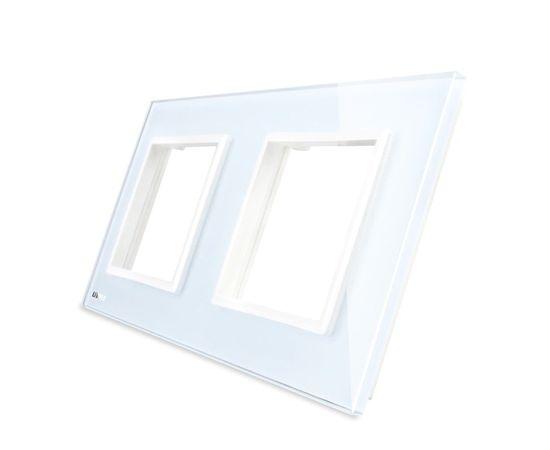 Рамка Livolo двойная, Цвет: Белый