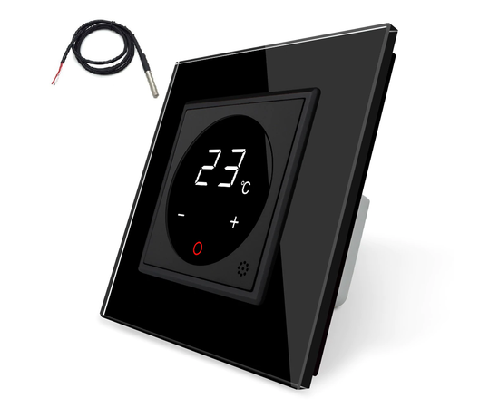 Терморегулятор Livolo с датчиком температуры пола, Цвет: Черный