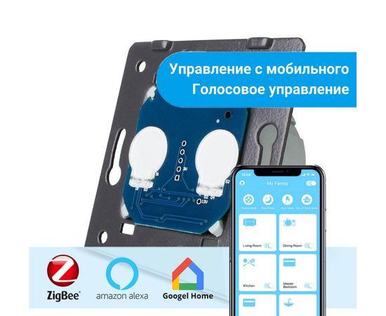 Механизм сенсорного выключателя Livolo 2-канальный, ZigBee, Количество каналов: 2, Питание: 220В, Встроенный радио модуль: ZigBee, Тип выключателя Livolo: Классический