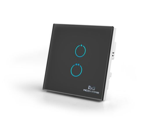 Сенсорный выключатель MCO Home Z-Wave на 2 канала, черный — MCO_TPS412B