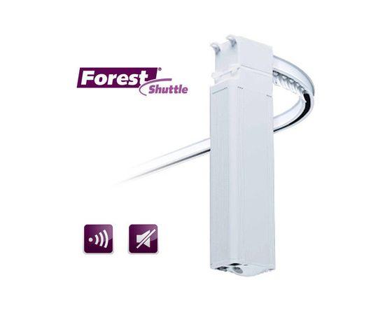 Электрокарниз Forest в сборе, Длина карниза: 2м, Тип привода карниза: SHUTTLE L