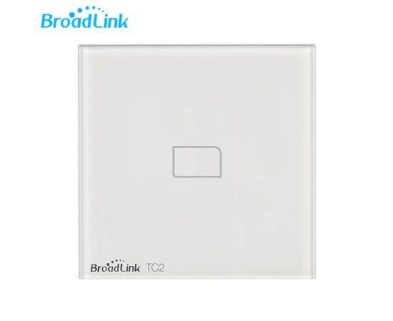 Сенсорный выключатель Broadlink TC2, Количество каналов: 1, Питание: 220В, Тип механизма выключателя: Выключатель (реле), Цвет: Белый