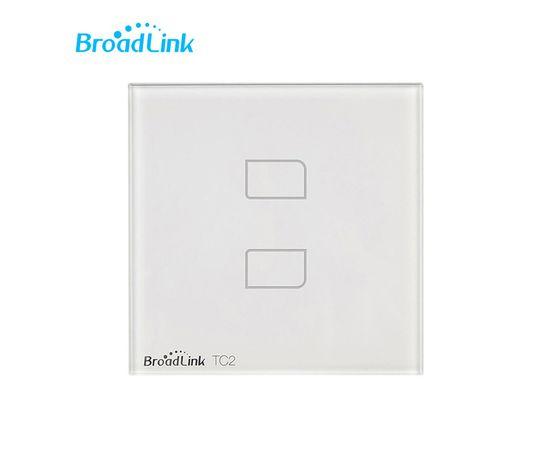 Сенсорный выключатель Broadlink TC2, Количество каналов: 2, Питание: 220В, Тип механизма выключателя: Выключатель (реле), Цвет: Белый