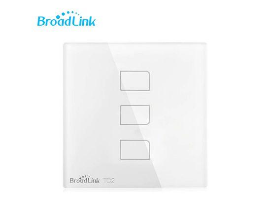 Сенсорный выключатель Broadlink TC2, Количество каналов: 3, Питание: 220В, Тип механизма выключателя: Выключатель (реле), Цвет: Белый