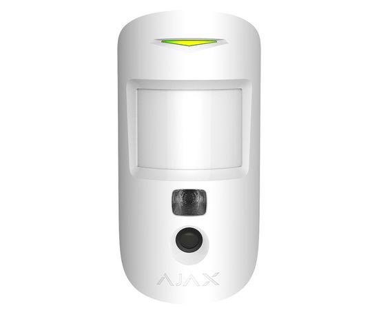 Беспроводной датчик движения с камерой Ajax Motioncam, Цвет: Белый , Питание: Батарейки