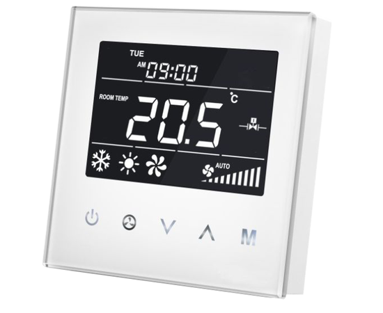 Термостат для фанкойла Z-Wave настенный (2 трубы) MCO Home  — MCOEMH8-FC