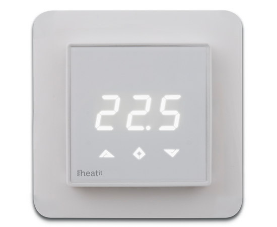 Термостат теплого пола со счетчиком электроэнергии Heatit Z-TRM3, белый