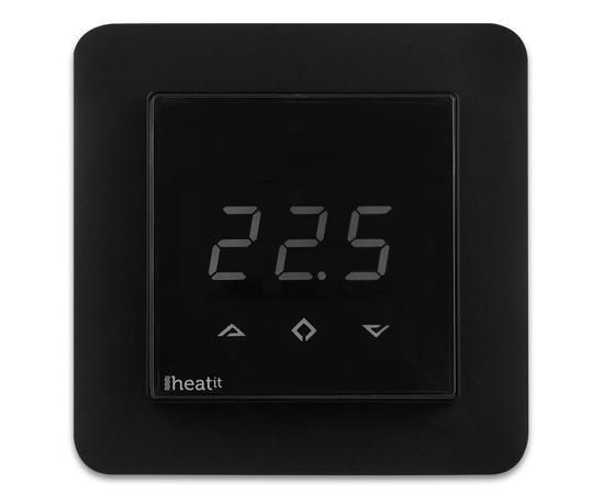 Термостат теплого пола со счетчиком электроэнергии Heatit Z-TRM3, черный