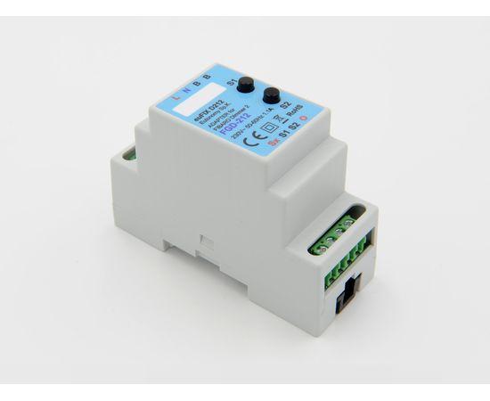Адаптер на DIN рейку Eutonomy для модуля FIBARO Dimmer 2 250 W - euFIX D212 DIN (с кнопкой)