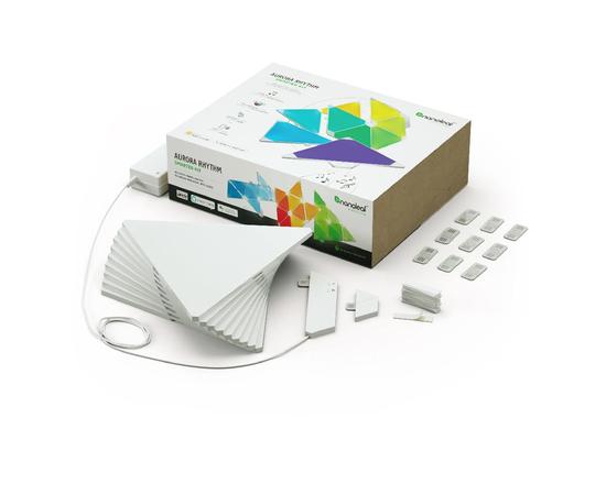 Умная система освещения Nanoleaf Aurora Smarter Kit Rhythm Edition - 9 шт.