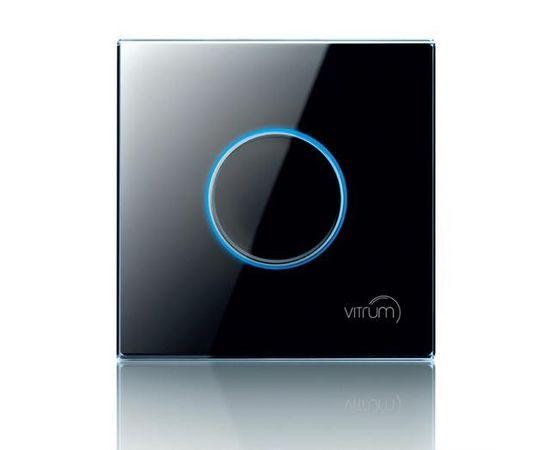 Сенсорный настенный контроллер Vitrum 1-канальный, Z-Wave, британский стандарт, Количество каналов: 1, Стандарт выключателя: Британский, Тип механизма выключателя: Контроллер дистанционного управления