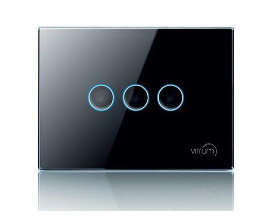 Сенсорный выключатель Vitrum 3-канальный, Z-Wave, европейский стандарт, Количество каналов: 3, Стандарт выключателя: Европейский, Тип механизма выключателя: Выключатель (реле)