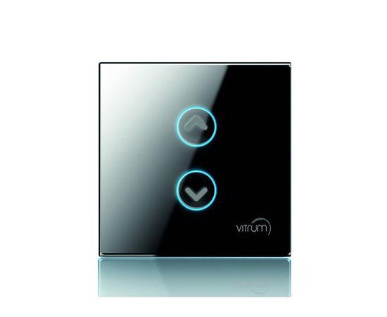 Сенсорный выключатель Vitrum для роллет/жалюзи, Z-Wave, британский стандарт, Количество каналов: 2, Стандарт выключателя: Британский, Тип механизма выключателя: Контроллер жалюзи, шторы