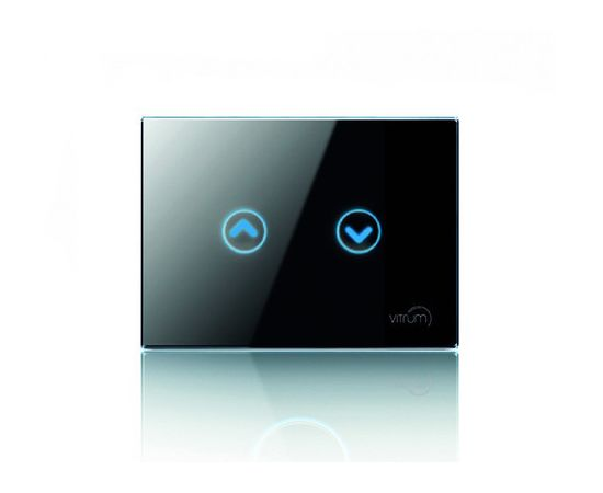Сенсорный выключатель Vitrum для роллет/жалюзи, Z-Wave, европейский стандарт, Количество каналов: 2, Стандарт выключателя: Европейский, Тип механизма выключателя: Контроллер жалюзи, шторы