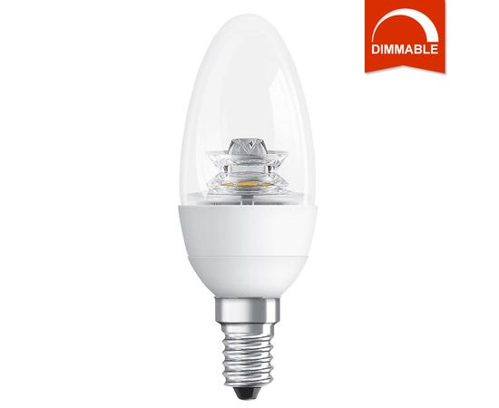 Светодиодная LED лампа OSRAM SUPERSTAR B40 6W 470lm E14 теплый белый, диммируемая, прозрачная