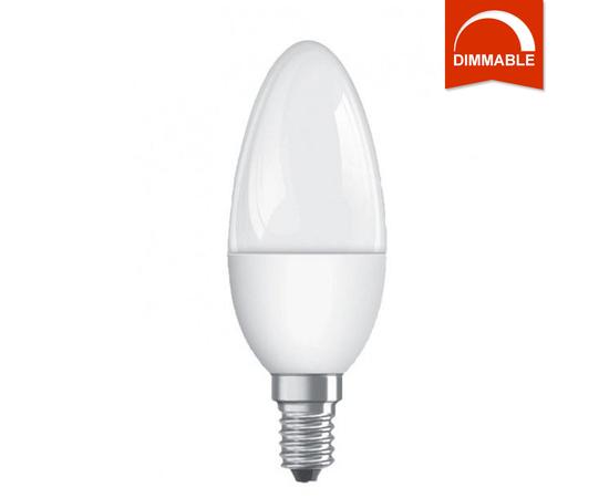 Светодиодная LED лампа OSRAM SUPERSTAR CLB40 5.4W FR 470lm  E14 холодный белый, диммируемая, матовая